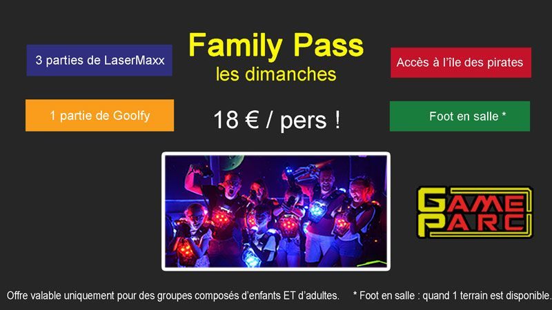 Affiche Family pass GAMEPARC