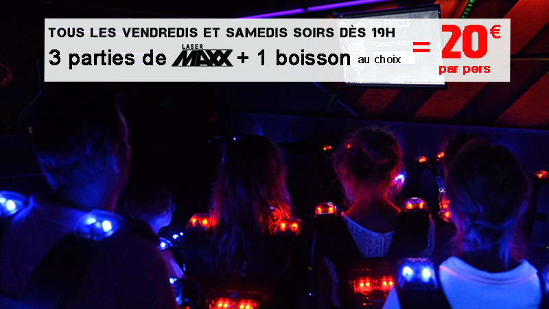 Image 3 parties de Lasergame + 1 boisson = 20€