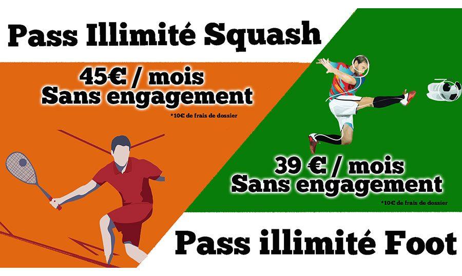 Visuel Découvrez le pass illimité Foot 5 et Squash