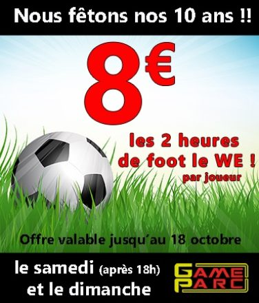 illustration Anniv GameParc 10 op Foot